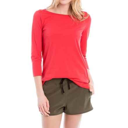 Lole Meg Shirt - Boat Neck, 3/4 Sleeve (For Women) in Ruby - Closeouts