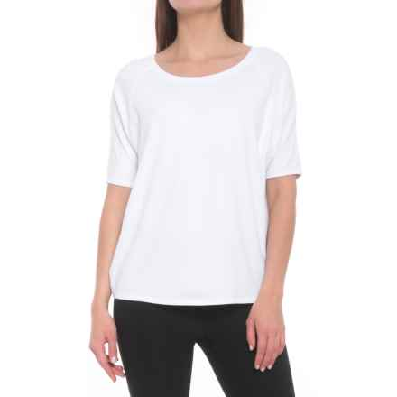 Lole Mercy Shiny Tech Shirt - Short Sleeve (For Women) in White - Closeouts