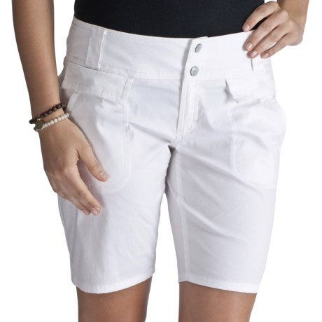 Lole Mission Shorts - UPF 50+, Stretch Cotton-Nylon (For Women) in White