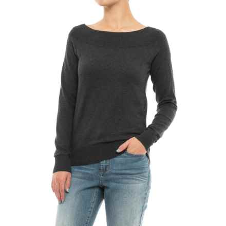 Lole Moss Sweater - Boat Neck (For Women) in Black Heather - Closeouts