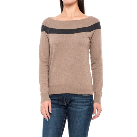 Lole Moss Sweater - Boat Neck (For Women) in Cinder Heather