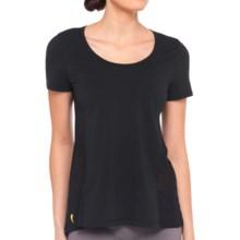 Lole Mukha Shirt - Semi-Sheer Back, Short Sleeve (For Women) in Black - Closeouts
