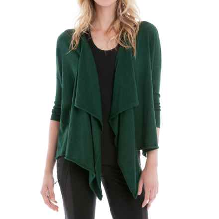 Lole Murielle Draped Cardigan Sweater (For Women) in Greens Heather - Closeouts