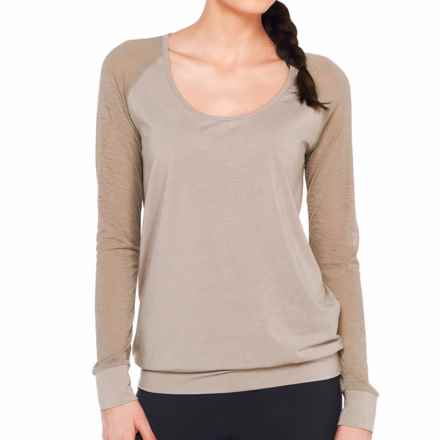 Lole Orchid Shirt - Long Sleeve (For Women) in Shiitake - Closeouts