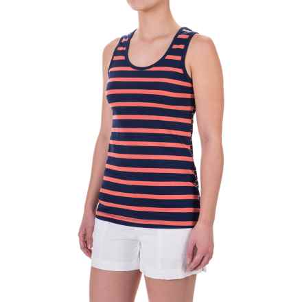 Lole Pinnacle Tank Top - UPF 50+, Organic Cotton (For Women) in Mirtillo Blue Mini Stripe - Closeouts