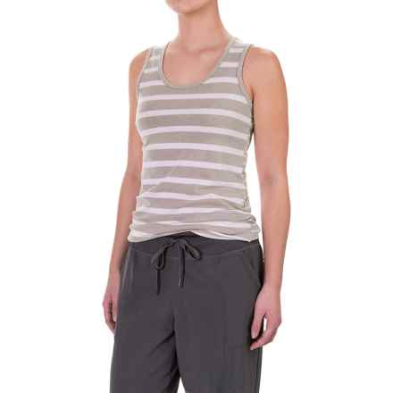 Lole Pinnacle Tank Top - UPF 50+, Organic Cotton (For Women) in Shiitake Mini Stripe - Closeouts