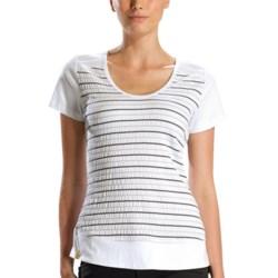Lole Pleasing Shirt - UPF 50+, Short Sleeve (For Women) in Storm Stripe