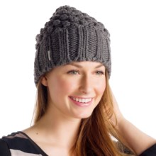 Lole Popcorn Beanie Hat (For Women) in Dark Charcoal - Closeouts