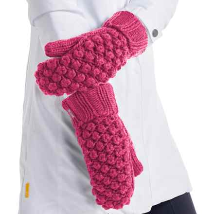 Lole Popcorn Mittens - Fleece Lined (For Women) in Campari - Closeouts