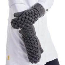Lole Popcorn Mittens - Fleece Lined (For Women) in Dark Charcoal - Closeouts