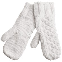 Lole Popcorn Mittens - Fleece Lined (For Women) in White - Closeouts