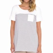 Lole Principle Tunic Shirt - UPF 50+, Short Sleeve (For Women) in White 2 Tone - Closeouts