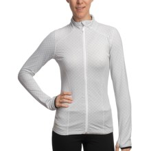 Lole Radiant Shirt - Full Zip, Long Sleeve (For Women) in White/Light Grey Monogram - Closeouts
