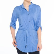 Lole Rory Tunic Blouse - 3/4 Sleeve (For Women) in Nautical Blue Heather - Closeouts