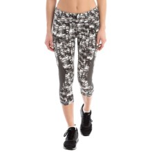 Lole Run Capris (For Women) in Black Impressionist - Closeouts