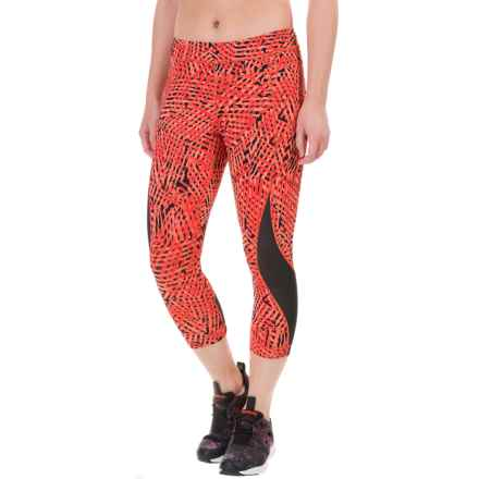 Lole Run Capris (For Women) in Ruby Foliage - Closeouts