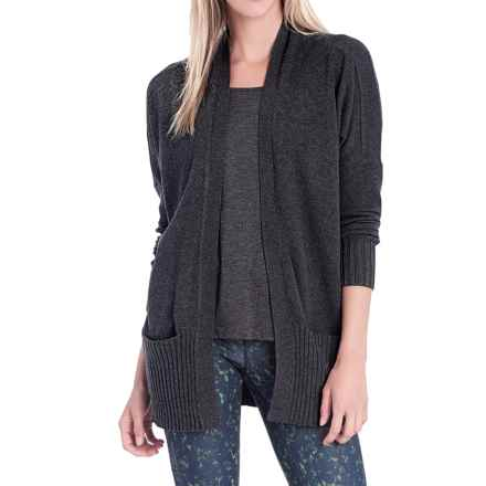Lole Sachin Cardigan Sweater (For Women) in Black Heather - Closeouts