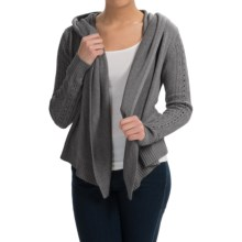 Lole Sama Hooded Cardigan Sweater - Silk (For Women) in Carbon Heather - Closeouts