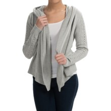 Lole Sama Hooded Cardigan Sweater - Silk (For Women) in Sandstone Heather - Closeouts