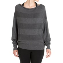 Lole Sammy 2-in-1 Sweater - UPF 50+, Dolman Sleeve (For Women) in Menhir Heather - Closeouts