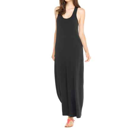 Lole Sarah Maxi Dress - UPF 50+, Organic Cotton, Sleeveless (For Women) in Black - Closeouts