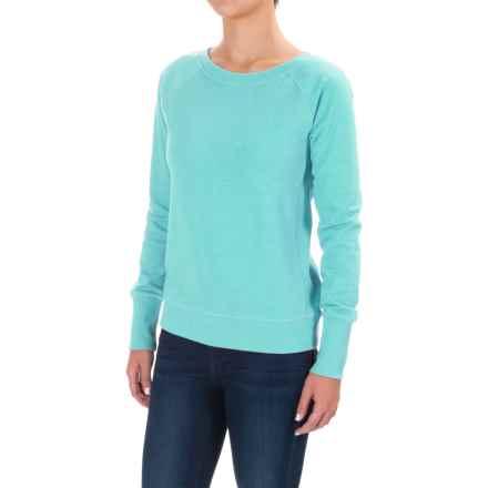 Lole Saya Cozy Terry-Knit Sweatshirt (For Women) in Aqua Splash Heather - Closeouts