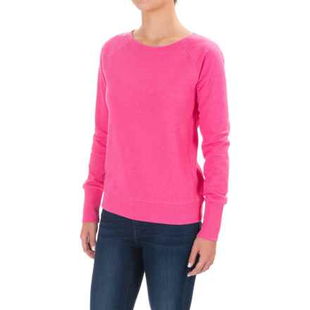 Lole Saya Cozy Terry-Knit Sweatshirt (For Women) in Fuchsia Purple Heather - Closeouts