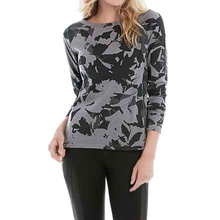 Lole Saya Terry-Knit Shirt - Long Sleeve (For Women) in Black Drizzle - Closeouts