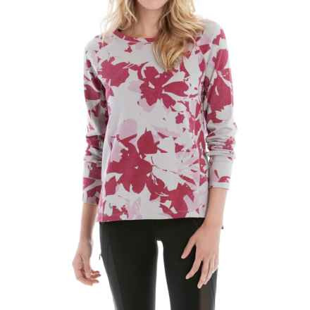 Lole Saya Terry-Knit Shirt - Long Sleeve (For Women) in Rumba Red Drizzle - Closeouts