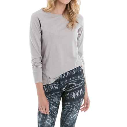 Lole Saya Terry-Knit Shirt - Long Sleeve (For Women) in Warm Grey Heather - Closeouts