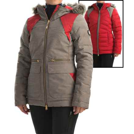 Lole Shine PrimaLoft® Down Blend Reversible Jacket - Waterproof, Insulated (For Women) in Dark Chocolate - Closeouts