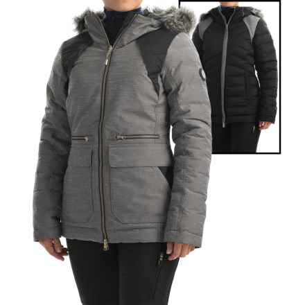 Lole Shine PrimaLoft® Down Blend Reversible Jacket - Waterproof, Insulated (For Women) in Meteor - Closeouts