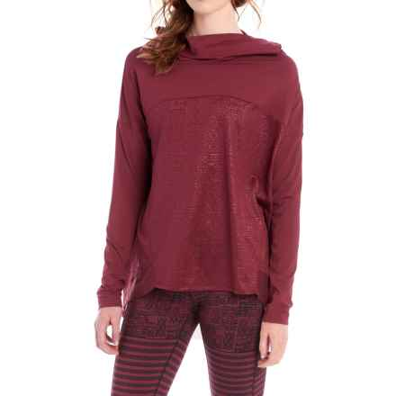 Lole Shirt - Cowl Neck, Long Sleeve (For Women) in Cordovan - Closeouts