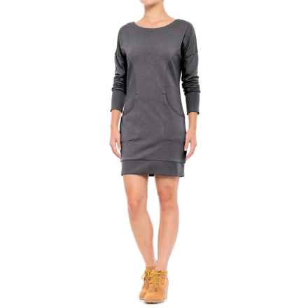 Lole Sika Dress - Long Sleeve (For Women) in Black Heather - Closeouts
