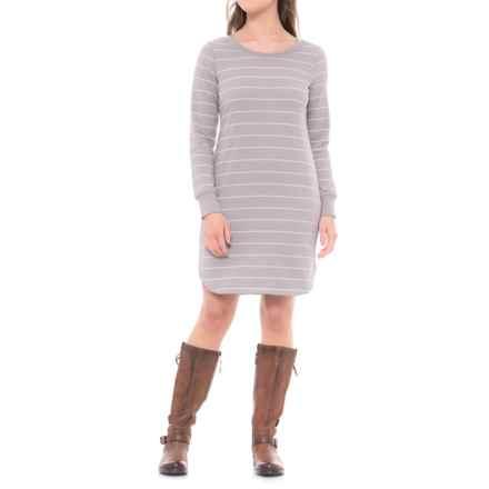 Lole Sika Dress - Long Sleeve (For Women) in Medium Grey Stripe - Closeouts