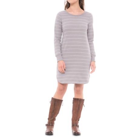 Lole Sika Dress - Long Sleeve (For Women) in Medium Grey Stripe