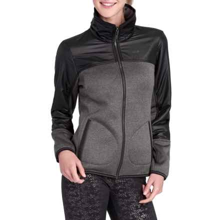 Lole Snug Sherpa-Lined Sweater - Zip Front (For Women) in Black Heather - Closeouts