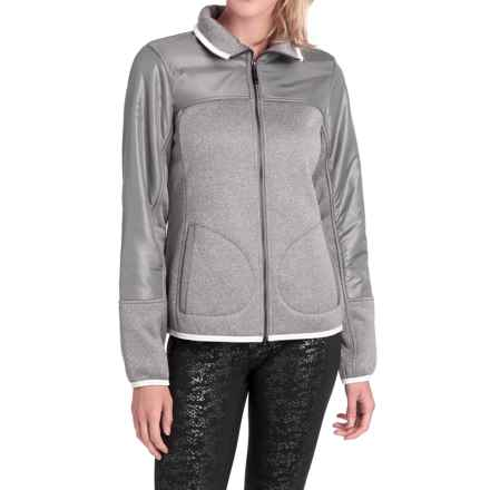 Lole Snug Sherpa-Lined Sweater - Zip Front (For Women) in Meteor Heather - Closeouts