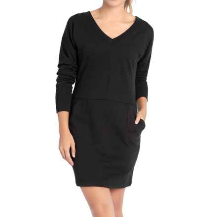 Lole Sohan Dress - V-Neck, Long Sleeve (For Women) in Black - Closeouts