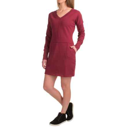 Lole Sohan Dress - V-Neck, Long Sleeve (For Women) in Cordovan - Closeouts