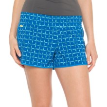 Lole Step Shorts - UPF 50+, Low Rise (For Women) in Blue Corn Cotton Candy - Closeouts
