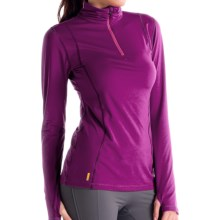Lole Striking Shirt - Zip Neck, Long Sleeve (For Women) in Mulberry - Closeouts