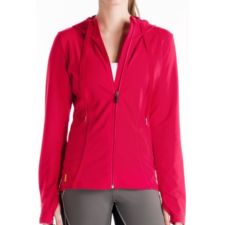 Lole Studio Jacket - UPF 50+, Full Zip (For Women) in Pomegranate