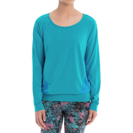 Lole Suddhi Shirt - Organic Cotton, Long Sleeve (For Women) in Atomic Blue