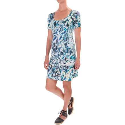 Lole Sue Dress - Rayon, Short Sleeve (For Women) in Aqua Splash Monarch - Closeouts