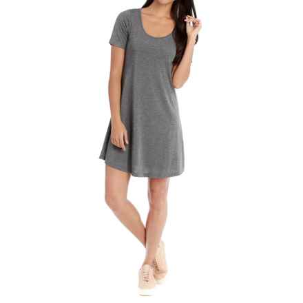 Lole Sue Dress - Rayon, Short Sleeve (For Women) in Dark Charcoal Heather - Closeouts