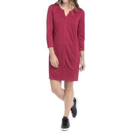 Lole Suri Dress - Modal, Long Sleeve (For Women) in Rumba Red - Closeouts