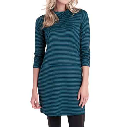 Lole Tango Turtleneck Dress - Long Sleeve (For Women) in Marine Stripe - Closeouts