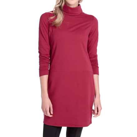 Lole Tango Turtleneck Dress - Long Sleeve (For Women) in Rumba Red - Closeouts