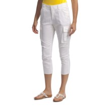 Lole Taylor Capris - Linen-Organic Cotton (For Women) in White - Closeouts